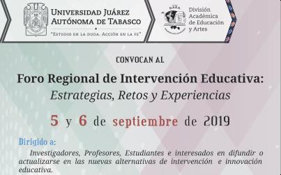 Foro Regional de Intervención Educativa: Estrategias, Retos y Experiencias