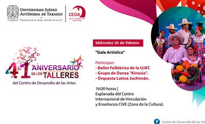 41 Aniversario de los Talleres culturales del Centro de Desarrollo de las Artes